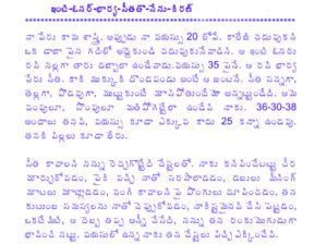 ఇంటి ఓనర్ భార్య తో Inti Owner Bharya Tho Telugu PDF Sex Stories