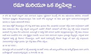 రమా మరియు నల్ల పిల్ల Rama Mariyu Nalla Pilla Telugu PDF Sex Stories