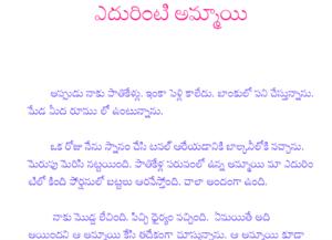 ఎదురింటి అమ్మాయి Yedhurinti ammayi telugu PDF Sex Story